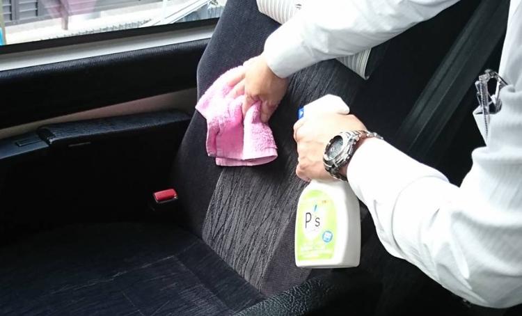 積極的な車内の清掃・除菌・消毒を実施しています。