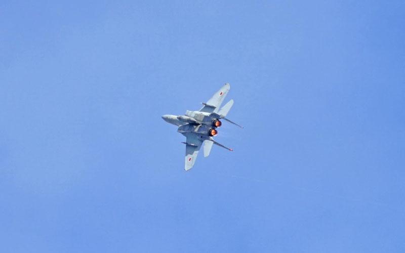 F-15展示飛行の様子