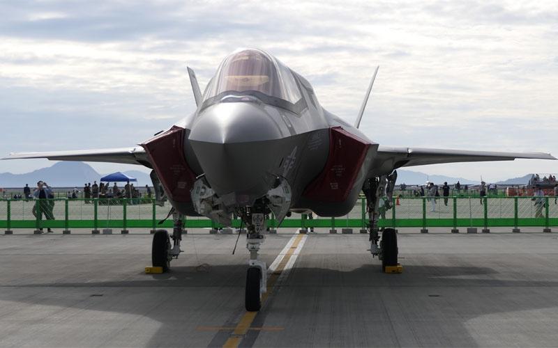 日本で初めての一般公開となったF-35B
