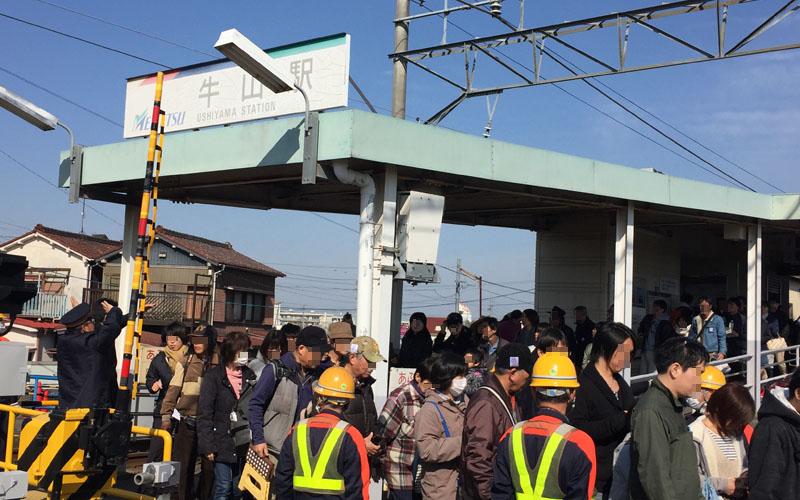 朝の牛山駅(小牧基地最寄駅)