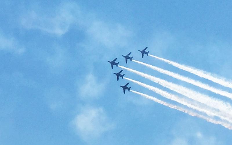 美保基地航空祭の展示飛行