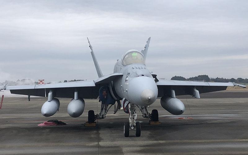 米空軍のF-18も展示