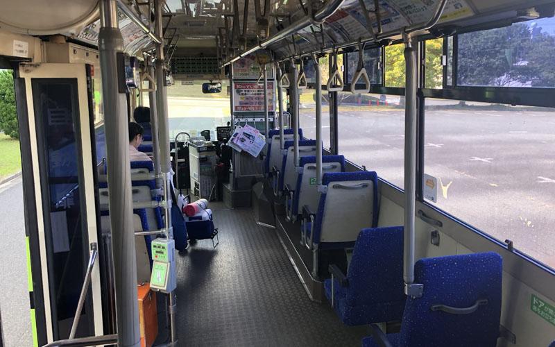 帰りはシャトルバスに乗車