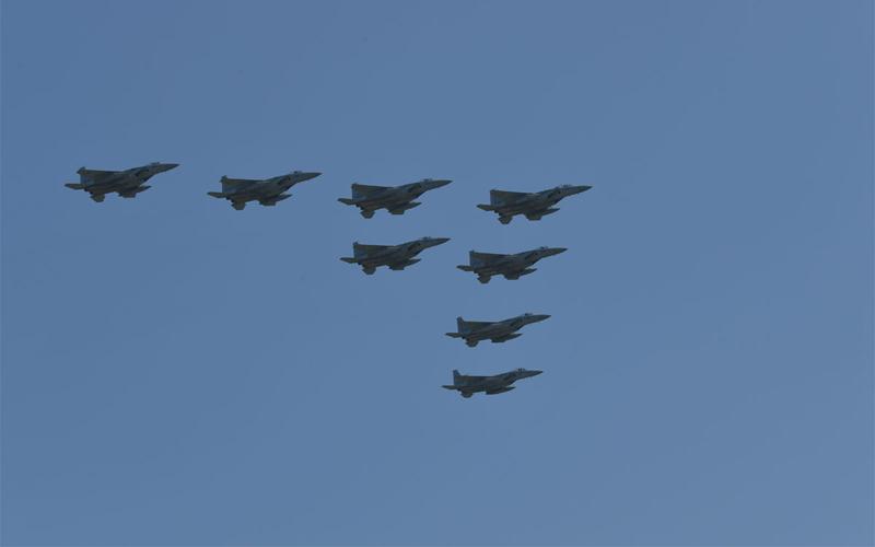 F-15による大編隊飛行