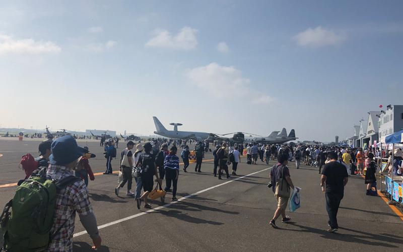 絶好の航空祭日和