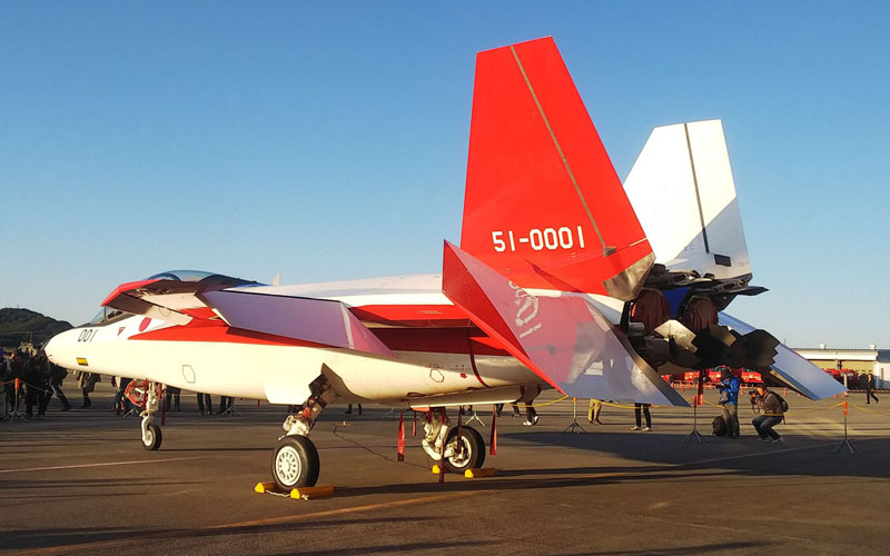 始めて地上展示されたX-2