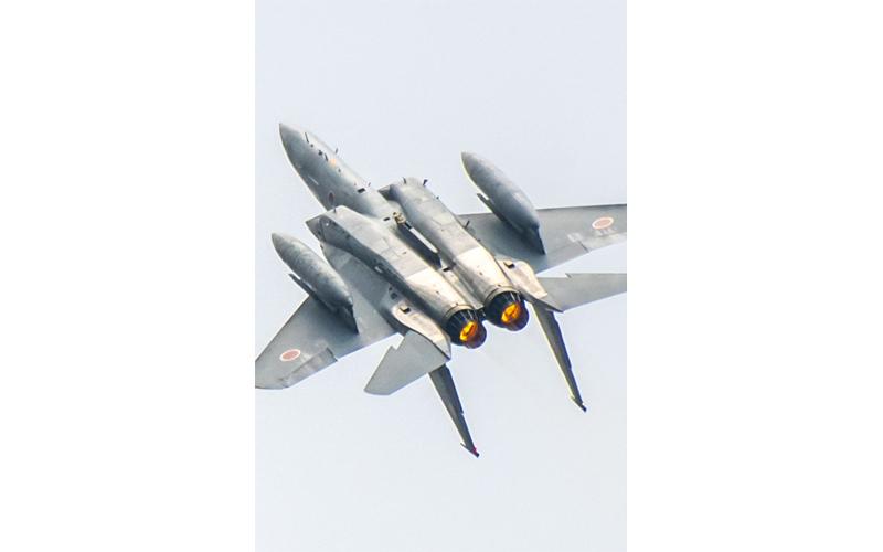F-15による機動飛行