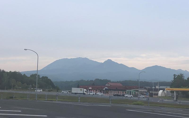 蒜山高原サービスエリアから望む大山